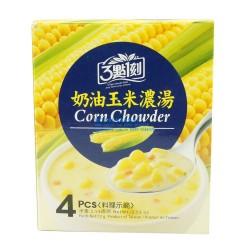 三点一刻台湾进口食品批发 3点1刻奶油玉米浓汤 3.15营养早餐72g