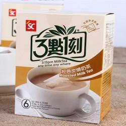 台湾进口食品批发3点1刻炭烧奶茶多口味港式/玫瑰/伯爵/原味120g