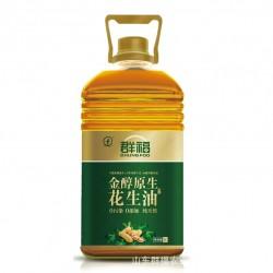 花生油特价批发 厂家供应优质食用油 群福5L*4 金醇原生花生油
