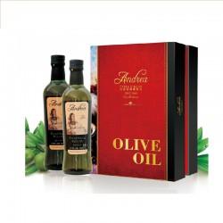 西班牙原装进口 特级初榨橄榄油 安德莉娜 百年经典礼盒750ml *2
