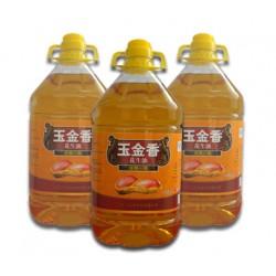 食用油/植物油/山东纯正花生油/玉金香压榨一级花生油4L特惠抢购