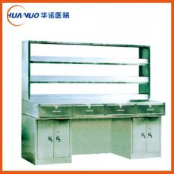 全不锈钢工作台  工作台器械台 全不锈钢Ⅰ型工作台(带试剂架)